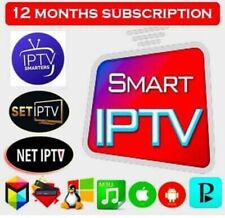 IP TV Mag box+Smart IPTV+1Year+UKandWorld
