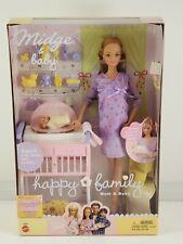 New Mattel Happy Family pregnant Midge and Baby Barbie doll 2002 Rare HTF, NIB