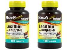 PACK 2 X 100 = 200 TABLETS LECITHIN KELP B 6 APPLE CIDER VINEGAR Weight Control