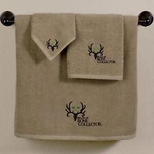 Bone Collector Towel Set TAN Michael Waddell Licensed 3pc Deer Antler Skull Logo