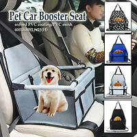 Portable Waterproof Car Booster Seat Pet Dog Cat Travel Cage Carrier Basket Bag