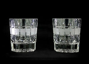 7oz. Russian Crystal Whiskey Rocks Scotch Glasses, Old Fashioned DOF, SET of 2