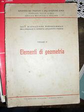 Testi personale condotta locomotive e tecnico ELEMENTI DI GEOMETRIA 1964