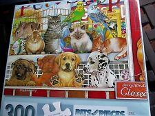 """300 Piece Amy Rosenberg Art Puzzle """"Pet  Shop Pals""""  New 18""""x 24"""""""