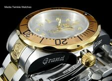 Invicta 47mm Grand Diver AUTOMATIC Silver Dial Gold Tone Silver Bracelet Watch