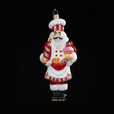 Kurt Adler Polonaise Pastry Nutcracker Chef Cook Glass Christmas Tree Ornament