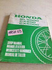 supplément manuel atelier Honda GL 500 D CX C Custom Shop manual éd. 82