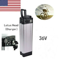 US Lotus Head Lithium Li-ion E-bike Battery 36V 10Ah 350W for Electric Bicycle