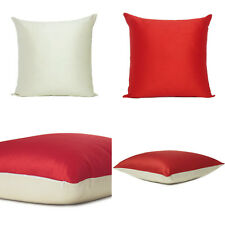 Red Beige Cover Cushion Both Pillow Sides Case Art Silk Throw Sofa Square 18x18