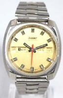 Original Mens Steel Suter Automatic Watch Vintage Gents Wristwatch Circa 1960s