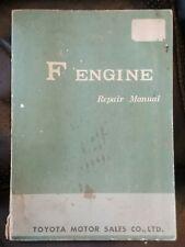 Toyota Landcruiser FJ40 F Engine Repair Manual Original 1967 Free USA Shipping!!
