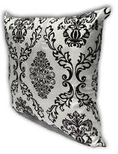 White Home Decorate Room Sofa Flock Print Cushion Cover Pillow Case 43cm x 43cm