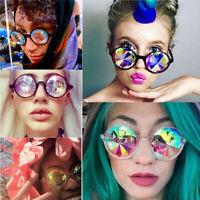 Kaleidoscope Sunglasses Festival Diffracted Round Lens Hippie Party Rave Hip pop