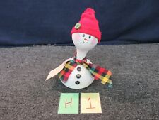Handcrafted Gourd Snowman Art Holiday Christmas Decor Winter Hand Painted Delta