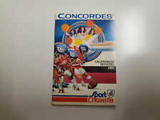 Rs20 Montreal Concordes 1982 Cfl Football Pocket Schedule (French) - O'Keefe