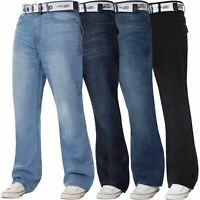 Kruze Mens Bootcut Jeans Wide Leg Flared Denim Trousers Pants Waists 28 – 50''