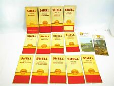 15 VINTAGE ROAD MAPS SHELL OIL COMPANY 1940s 1950s 1960s