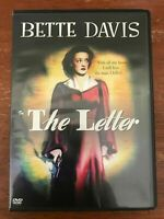 BETTE DAVIS Maugham's THE LETTER (DVD NEW!) Official release William Wyler