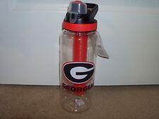Georgia Bulldogs 32 oz Cool Gear Tritan Bottle with Lid & Freeze Gel Stick