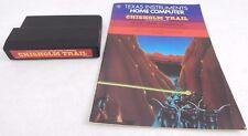 RARE: Texas Instruments Ti 99/4a - CHISHOLM TRAIL Video Game Cartridge & Manual
