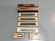 Z Scale - Marklin Mini-Club - 8841Locomotive w/3 Passenger Cars Train + 2 x cars