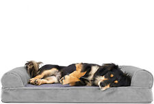 New listing Furhaven Pet Orthopedic Living Room Sofa Style Couch Dog Bed for Dogs & Cats