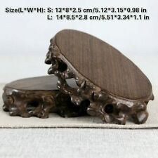 Chinesisch Ebenholz Display Ständer Räuchergefäß Blumentopf Teekanne Basis Feng
