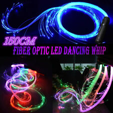 LED Fiber Optic Whip 360 Swivel Super Bright Light Up Rave Toy Dancing Tool
