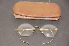 Antique Glasses Gold Filled Wire Frames Vintage Spectacles with Case Cincinnati