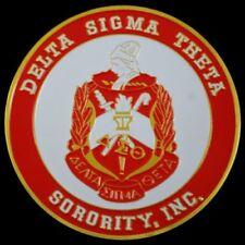 Delta Sigma Theta Sorority Round Car Tag Badge