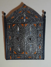 Beautiful Hand Made Moroccan Mirror With Wooden Frame (Height - 40 cm)