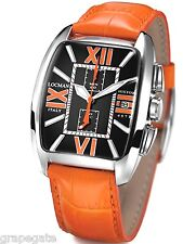 NWT Locman HISTORY Titanium Chrono Watch Model 487N BLACK/ORANGE, NEW in Box.