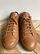 Common Projects Men's Achilles Leather Sneakers Brown Tan Size 11 US