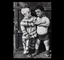 Vintage Circus Clown Midget Dwarf PHOTO Circus Freak Sideshow Halloween Costume