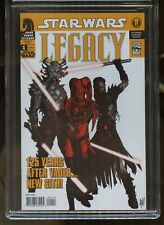 STAR WARS LEGACY #1 CGC GRADED 9.8 WHITE PAGES 2006 2nd PRINT ADAM HUGHES COVER