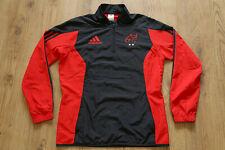 Munster Ireland Rugby Training Wind Track Jacket Shirt Jersey Adidas Size M