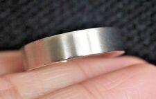 New S10.5 Men's 14k 6mm Comfort Fit plain brush Wedding Band 9G USA White Gold