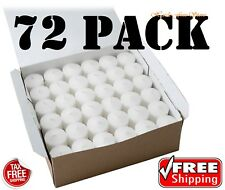 Votive Candles SET of 72 White Unscented 10 Hour Burn Bulk