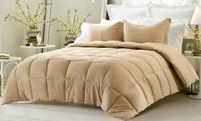 Home Linen Down Alternative Comforter 200 GSM Taupe Striped Cal King Size