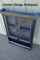 59413  Hand Painted Whatnot Curio Shelf Bookcase