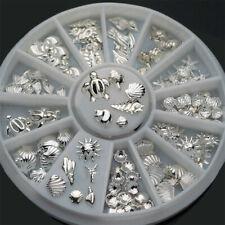 Assorted Metal Studs Nail art Decoration Decal Shells Craft DIY Embellishments