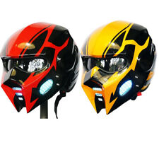 Helmet Bumblebee Man Gloss Fashion Full Open Face ATV Motorcycle Custom LEDLight