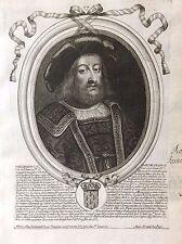 Childebert II Roi de France par Nicolas II de Larmessin C 1686 France