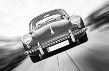 Leinwand Bild 356 C Rot Schwarzweiss Klassiker Porsche Sportwagen Schwarz Chrom