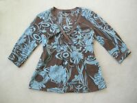 David Lawrence size 12 tunic top 100% cotton