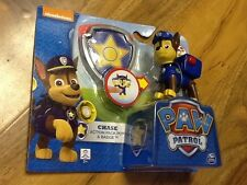 Paw Patrol-CHASE Action Pack Up & Badge, NUOVA