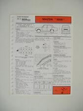 fiche technique RTA  MAZDA 1000