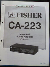 ORIGINAL SERVICE MANUAL Fisher Integrated Stereo Amplifier ca-223