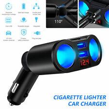 12V Auto KFZ Zigarettenanzünder Steckdose 2 USB Ladegerät Zweifach Verteiler DHL
