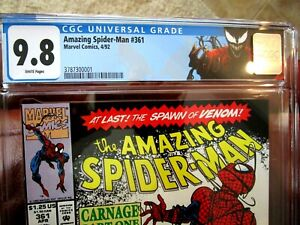 The Amazing Spider-Man #361 CGC Graded 9.8 1st Appearance of Carnage 30th Anniv.